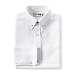 Lands' End - Boys' white oxford long sleeve washed shirt