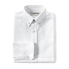 Lands' End - White boys' washed oxford long sleeve shirt