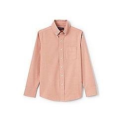 Lands' End - Boys' orange washed oxford long sleeve shirt