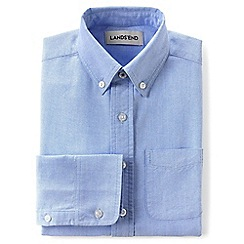 Lands' End - Blue boys' washed oxford long sleeve shirt