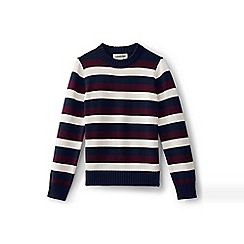 Lands' End - Boys' multi stripe crew neck jumper