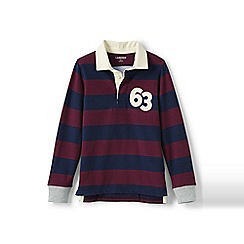 Lands' End - Red boys' striped rugby shirt