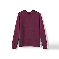 Lands' End - Red boys' waffle crew neck tee