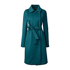 Lands' End - Green wool blend wrap coat
