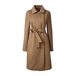 Lands' End - Brown wool blend wrap coat