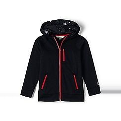 Lands' End - Boys' black zip front tricot hoodie