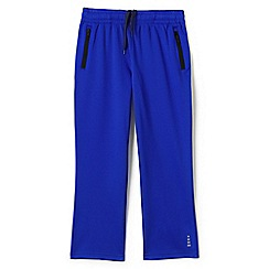 Lands' End - Blue boys' iron knee tricot tracksuit bottoms