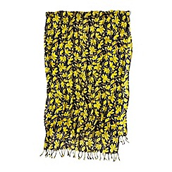 Lands' End - Yellow sunny yellow floral scarf