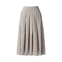 Lands' End - Grey linen midi skirt