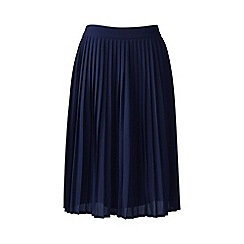 Lands' End - Blue pleated skirt