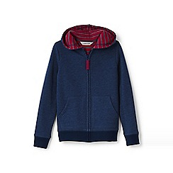 Lands' End - Blue boys' waffle lined hoodie