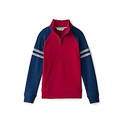 Lands' End - Pink boys' half zip pullover