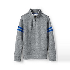 Lands' End - Grey boys' half zip pullover