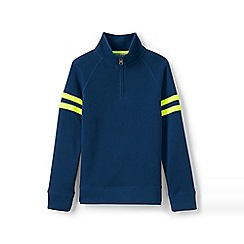 Lands' End - Blue boys' half zip pullover