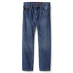 Lands' End - Boys' blue slim fit iron knee jeans
