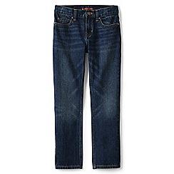 Lands' End - Boys' blue slim fit iron knee jeans