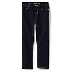 Lands' End - Boys' blue classic fit iron knee jeans