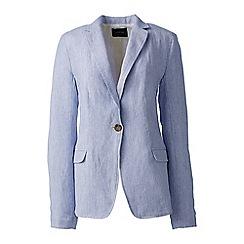 Lands' End - Blue stripe linen jacket