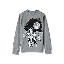Lands' End - Boys' grey glow in the dark graphic tee