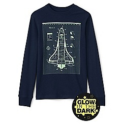 Lands' End - Boys' blue glow in the dark graphic tee