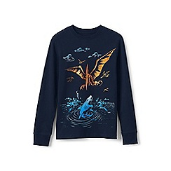 Lands' End - Blue boys' long sleeve graphic tee