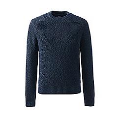 Lands' End - Blue regular shaker rib drifter sweater