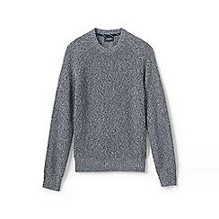 Lands' End - Grey regular shaker rib drifter sweater
