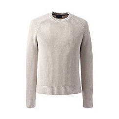 Lands' End - Beige regular shaker rib drifter sweater