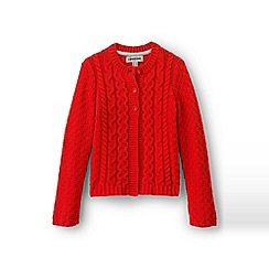 Lands' End - Red chunky cable cardigan
