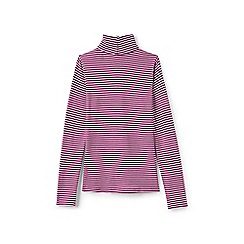 Lands' End - Girls' pink long sleeve print polo neck