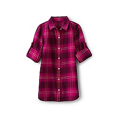 Lands' End - Girls' pink longer length tunic shirt