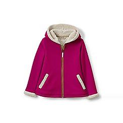Lands' End - Girls' pink a-line sherpa hoodie