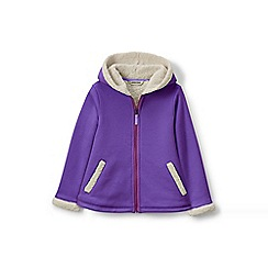 Lands' End - Girls' purple a-line sherpa hoodie