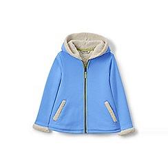 Lands' End - Girls' blue a-line sherpa hoodie