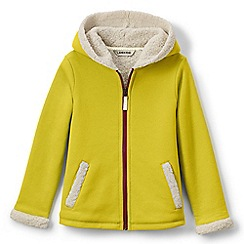 Lands' End - Green girls' a-line sherpa hoodie