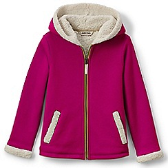 Lands' End - Pink girls' a-line sherpa hoodie