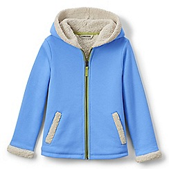 Lands' End - Blue girls' a-line sherpa hoodie
