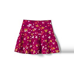 Lands' End - Girls' pink academy pattern jersey knit skort