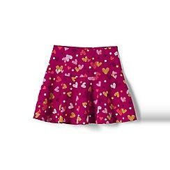 Lands' End - Girls' pink academy pattern jersey knit skort