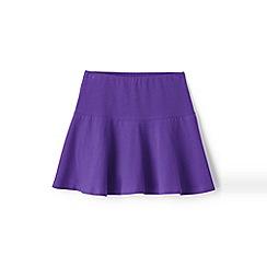 Lands' End - Girls' purple academy jersey knit skort