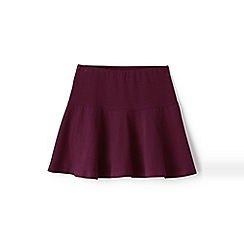 Lands' End - Girls' red academy jersey knit skort