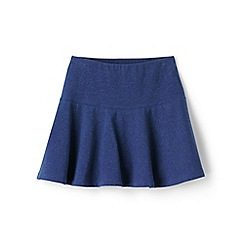 Lands' End - Girls' blue academy jersey knit skort