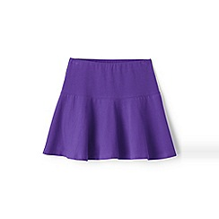 Lands' End - Girls' purple academy jersey knit skort