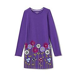 Lands' End - Blue girls' novelty t-shirt dress