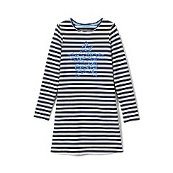 Lands' End - White girls' novelty t-shirt dress