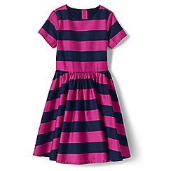 Lands' End - Pink girls sateen twirl dress