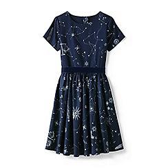 Lands' End - Blue girls sateen twirl dress