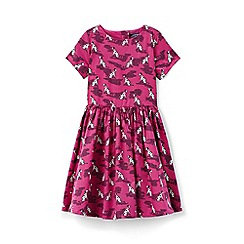 Lands' End - Girls' pink sateen twirl dress