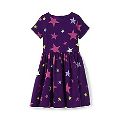 Lands' End - Girls' purple sateen twirl dress