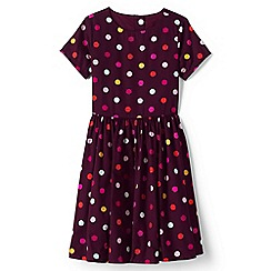 Lands' End - Black girls sateen twirl dress